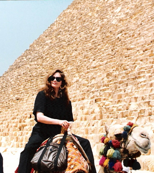 Cluny Grey at the pyramids in Giza, Egypt