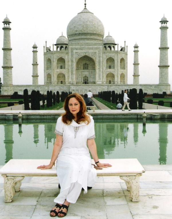 Cluny Grey at the Taj Mahal in Agra, India